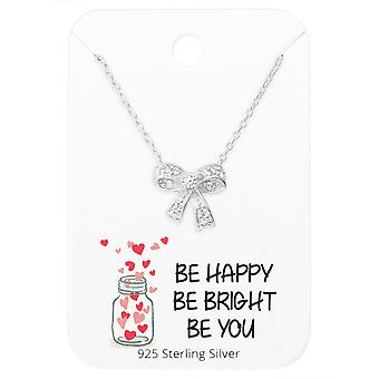 Collier noeud sur motivation cite carte - 925 argent Sterling Sets - W36098x