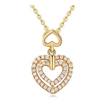 F f Double Collier pendentif coeur or BG1343