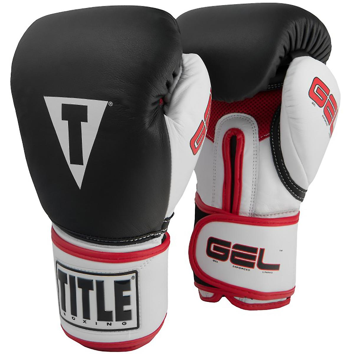 Black Title Boxing Classic Max Hook and Loop Boxing Gloves