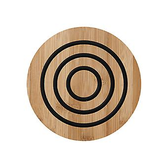 Ladelle Classic Round Bamboo Trivet, Charcoal