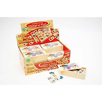 Traditional wood 'n' fun 28 pcs Farm Dominoes