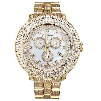 Joe Rodeo diamond men's watch - PILOT gold 11 ctw
