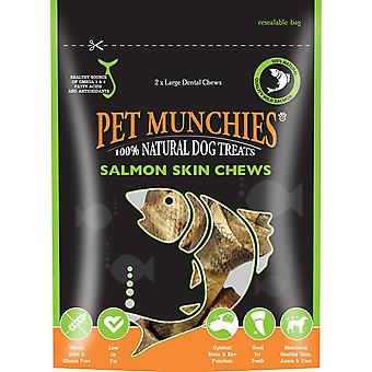 Pet Munchies Dog Treat Salmon Skin Chew, 125gram (Pack of 2)
