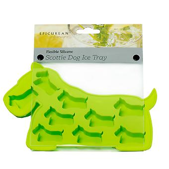 Epicurean Green Scottie Dog Silicone Ice Cube Tray