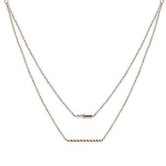ESPRIT women's chain necklace stainless steel Rosé JW52913 ESNL13485C420