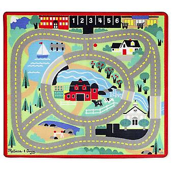 Melissa & Doug Around the Town Road Rug