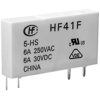 Hongfa HF41F/005-ZST PCB relay 5 V DC 6 A 1 change-over 1 pc(s)