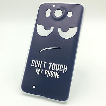 Mobiltelefon fallet för Microsoft Lumia 950 cover case skyddande väska motiv slim silikon TPU rör inte min telefon