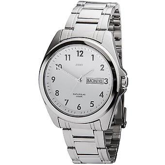 JOBO men's wristwatch quartz analog stainless steel date watch