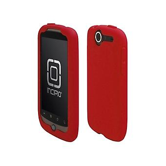 5 pack-Incipio Technologies-Incipio dermaSHOT silikonfodral till HTC Google Nexus One-Deep Red