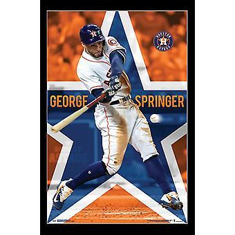 Astros de Houston - George Springer Poster Print