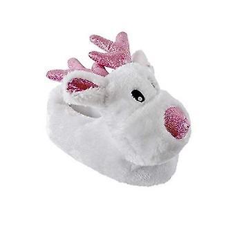 Kids Large 13/1 Children's Rudolf Novelty Slippers UK Sizes Warm Cosy Gift Christmas