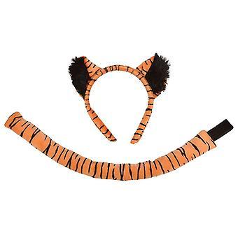 Bnov Tiger Set (oren + staart) kostuum