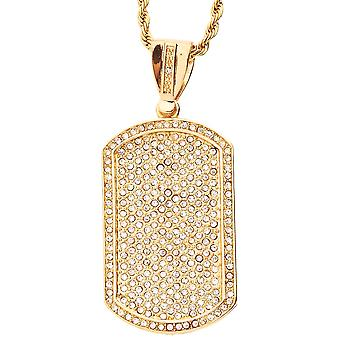 Iced out bling hip hop chain - DOG day gold