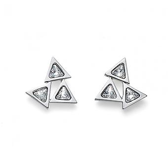 Oliver Weber Post Earring Trio Rhodium Crystal