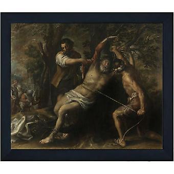 Le martyre de Saint-Barthélemy, Francisco Camilo, 61x51cm