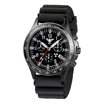 השעון השחור של שעונים מחלקה שחור טיטאן הכרונוגרף-סיקים. . אני מבין. Db