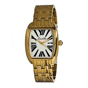 Bertha Anastasia Ladies Bracelet Watch w/Date - Gold/White