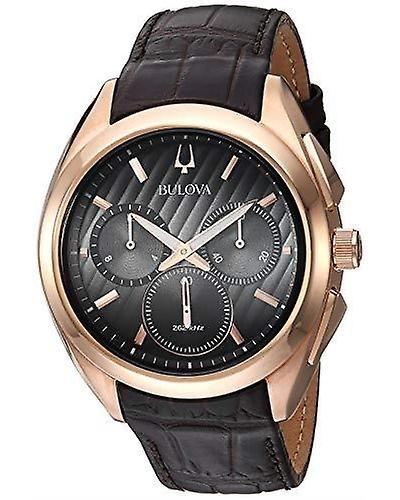 Bulova Progressive Dress CURV Chronograph Mens Watch 97A124 42mm