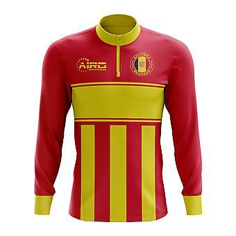 Andorra-Konzept Fußball Half Zip Midlayer oben (rot-gelb)