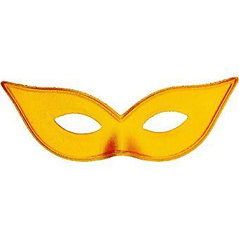 Harlekin Maske Satin Gold für Erwachsene