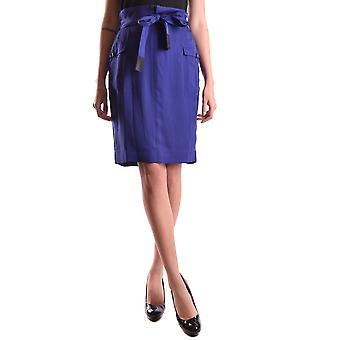 Burberry Blue Silk Skirt