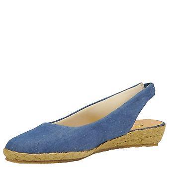 Beacon Womens Eastport Fabric Closed Toe Casual Espadrille Sandals