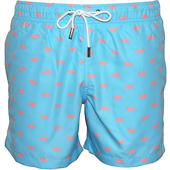 Apres Swimming Pigs Swim Shorts, Ocean Blue