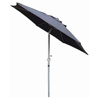 2m alumiini musta Parasol aurinko varjo Crank ja Tilt Garden