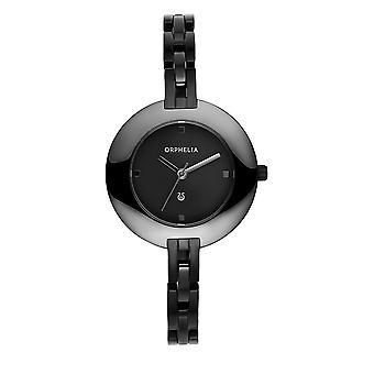 ORPHELIA Damen analoge Uhr Fashionista Schwarz Keramik 153-2716-44