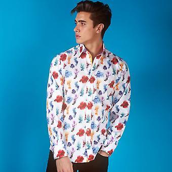 Claudio Lugli Big Beta Fighter Fish Print Shirt