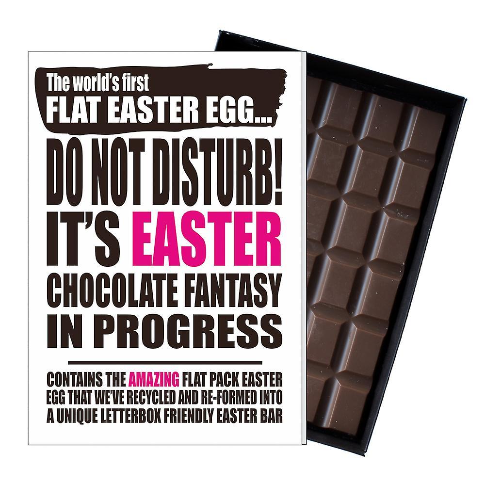 Funny Flat Easter Egg Chocolate Bar Greeting Card Gift Men Women Friend UK EIYF137