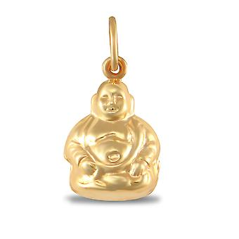 Jewelco London Ladies 9ct keltainen kulta Buddha Charm riipus