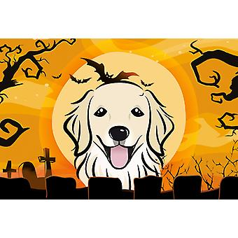 Carolines Treasures  BB1763PLMT Halloween Golden Retriever Fabric Placemat