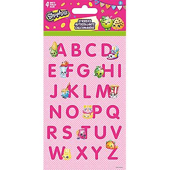 Standard Stickers 4 sheet - Shopkins - Letters - Stationery New st4059