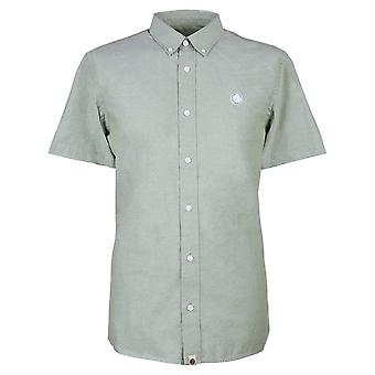 Pretty GREEN Short Sleeve Classic Fit Oxford Chemise