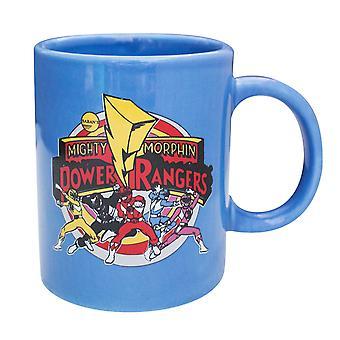 Power Rangers grupo caneca azul