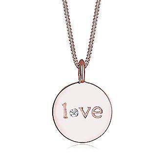 Elli Premium Halskette mit Damen Anhänger in Silber - Rose Gold Platte - 45 cm