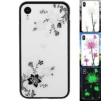 iPhone Xr حالة الزهور - الزجاج السحري BackCover 1