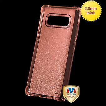 MYBAT Transparent Rose Gold schiere Glitter Premium Candy Skin Cover für Galaxy Note 8