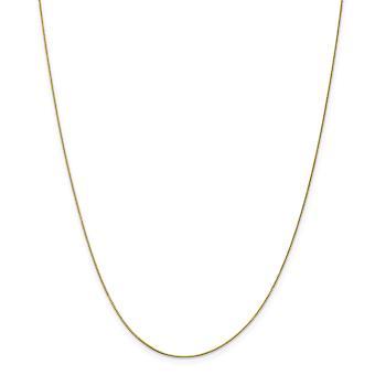 10k κίτρινη χρυσή γυαλισμένη άνοιξη κουτί δαχτυλίδι. 5mm κολιέ με αλυσίδα-μήκος: 14 έως 24