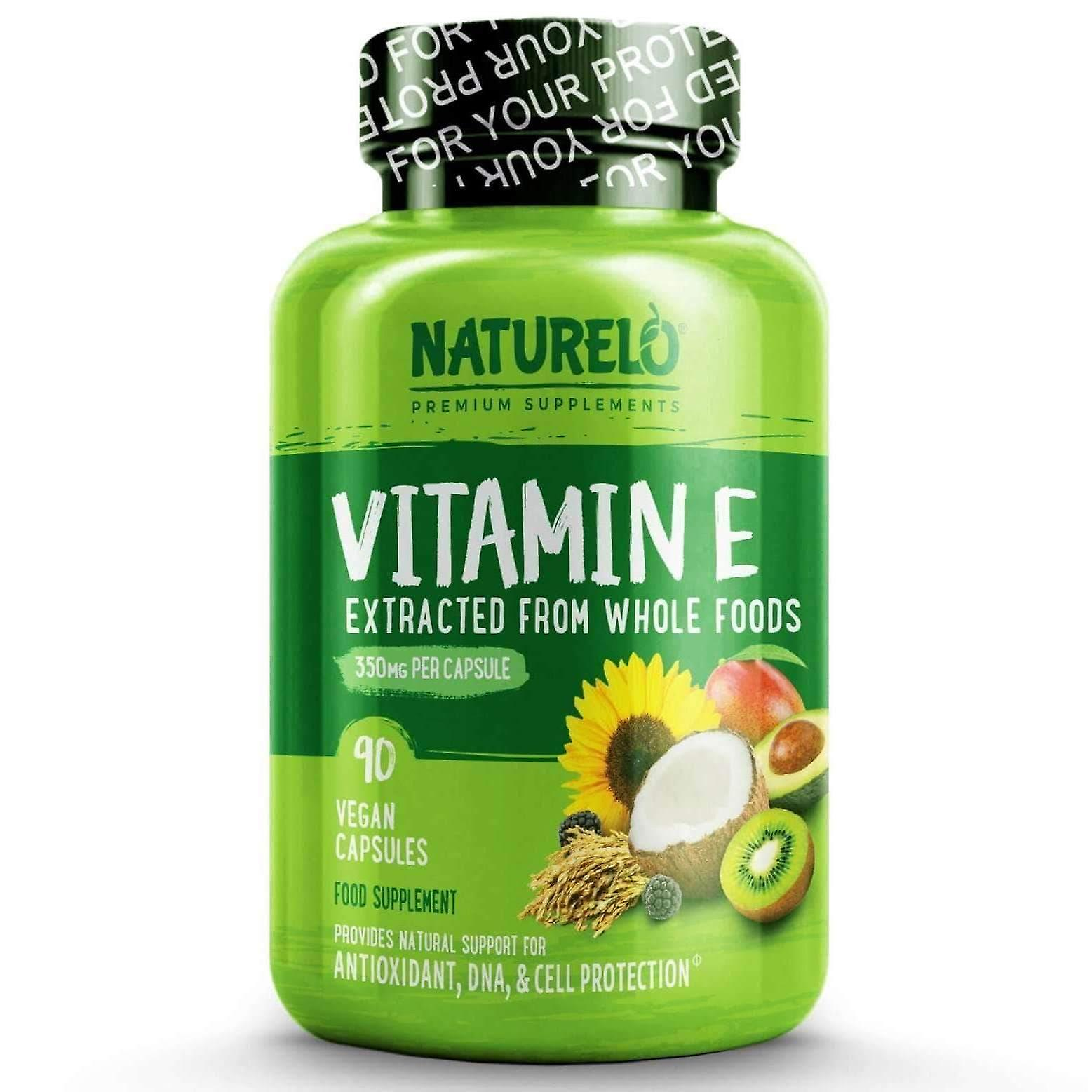 Vitamin e with mixed tocopherols from coconut, sunflower & rice bran - 90 caps | 3 month supply (vegan)
