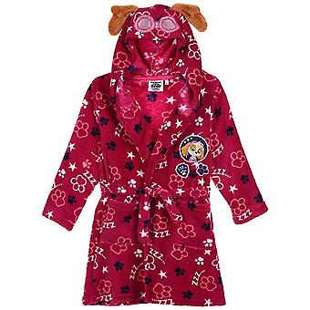 Mädchen HS2084 Paw Patrol Kapuzen Koralle Fleece Dressing Kleid