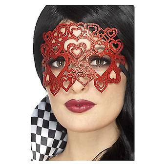 Womens Soft sentiu Glitter Eyemask Fancy Dress acessório