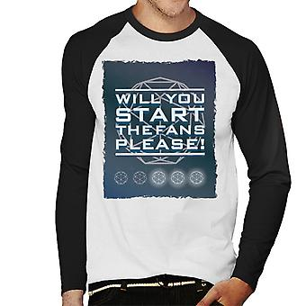 The Crystal Maze Will You Start The Fans Please Men's Baseball Long Sleeved T-Shirt