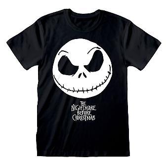 Mężczyźni's Koszmar przed Świętami Bożego Narodzenia Jack Skellington Czarny T-Shirt