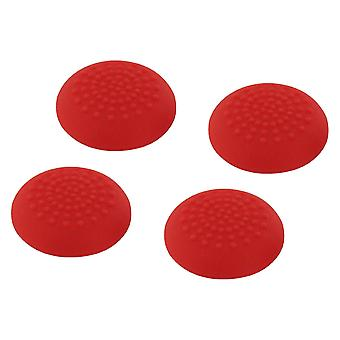 Convex soft silicone thumb grips for sony ps4 controller analog sticks - 4 pack red