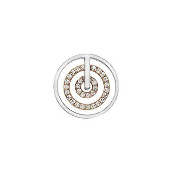Emozioni Brass Entro Coin Rose Gold Plated 25mm EC495