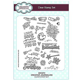 Creative Expressions A5 Clear Stamp Set - CEC873 Journalling - Creative Journalling