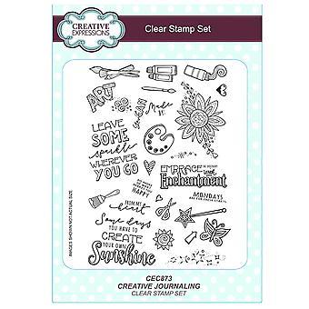Expressions créatives A5 timbre clair Set - CEC873 journal - journalisation créatif
